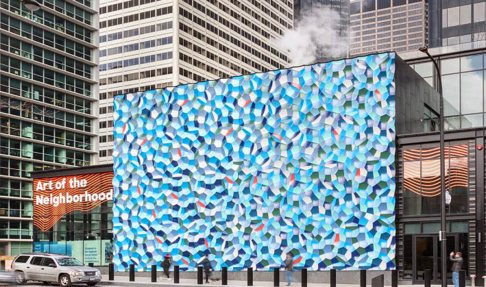 'Atmospheric Wave Wall' Unveiled at Chicago's Willis Tower